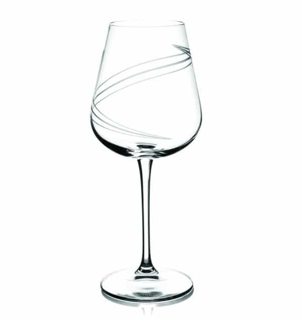 Tipperary Crystal Set Of 6 Spiral Cut Wine Glasses