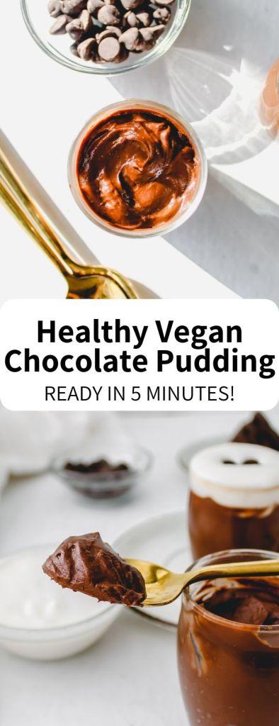 pinterest image chocolate pudding