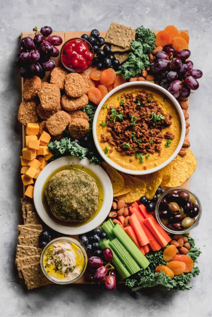 tray of vegetables and cheese