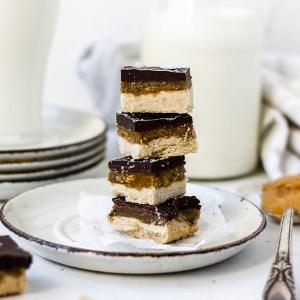 stack of vegan dessert
