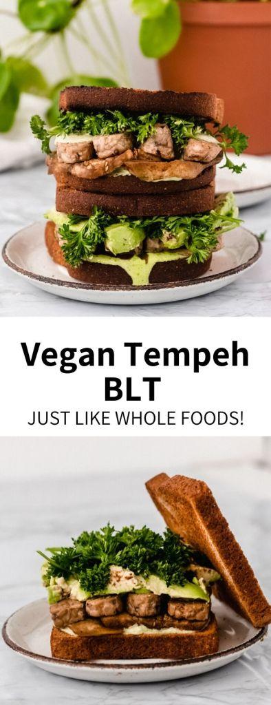 tempeh BLT sandwich pin