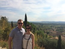 The view of Chateauneuf-du-Pape from the Popes summer residence