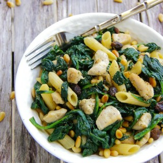 SPINACH CHICKEN PASTA SALAD