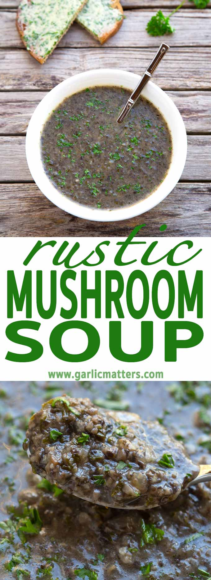 Easy, 30 min Rustic Mushroom Soup recipe is a delicious, fragrant mushroom vegetarian delight with beautiful, earthy and rich flavours.