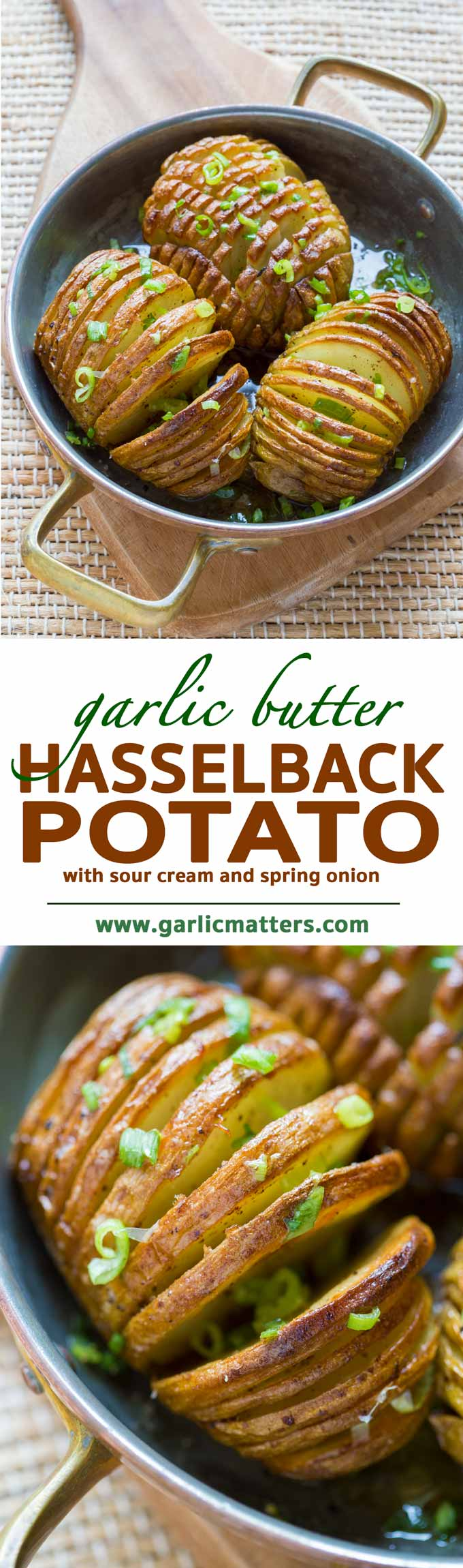Garlic Butter Hasselback Potato Recipe - vegetarian, simple and tasty. Enjoy as a side dish or main course. Ready in 60 minutes.