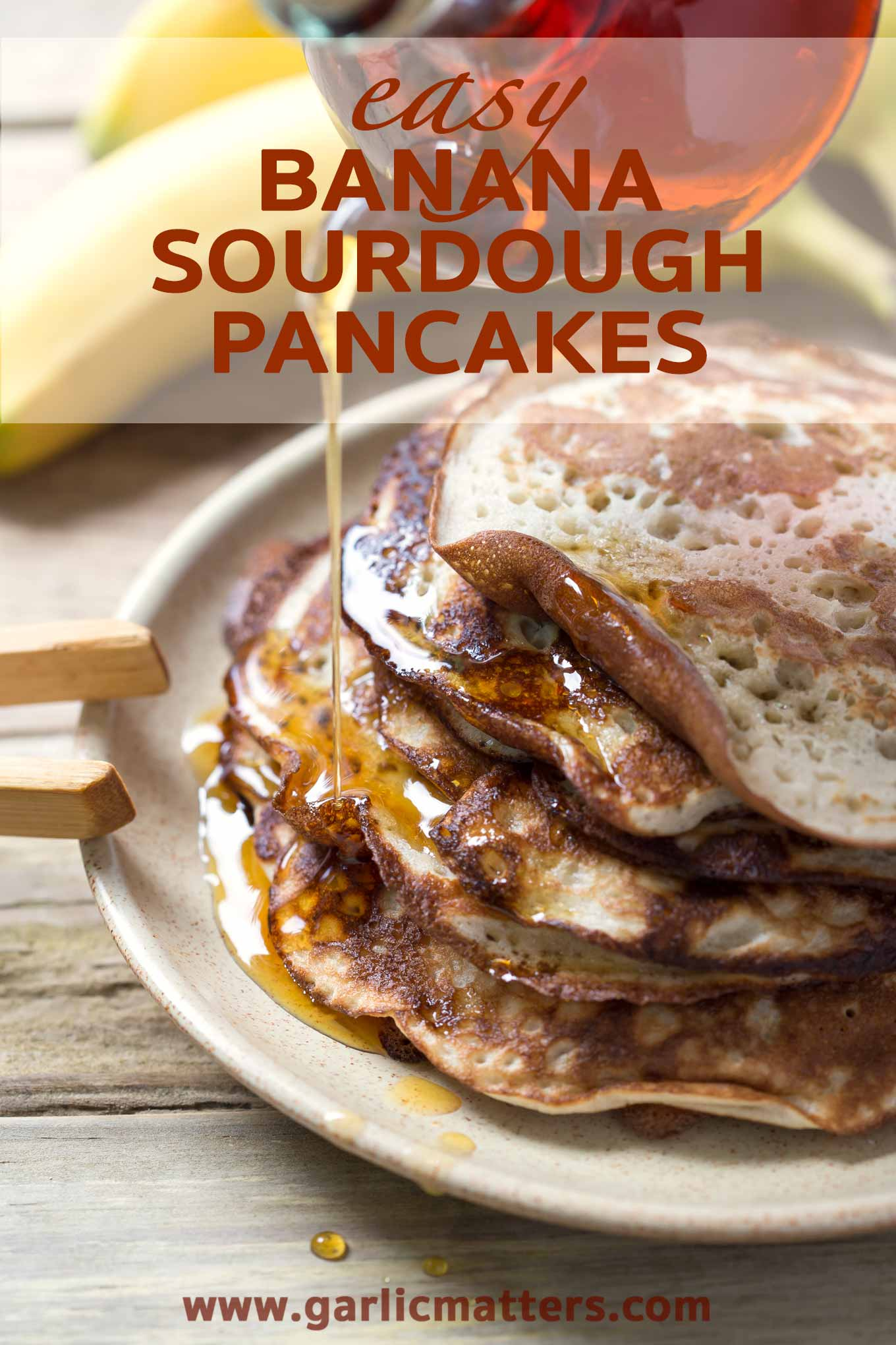 Banana sourdough pancakes garlic matters delicious banana sourdough pancakes are easy to make and also really good for your gut ccuart Images