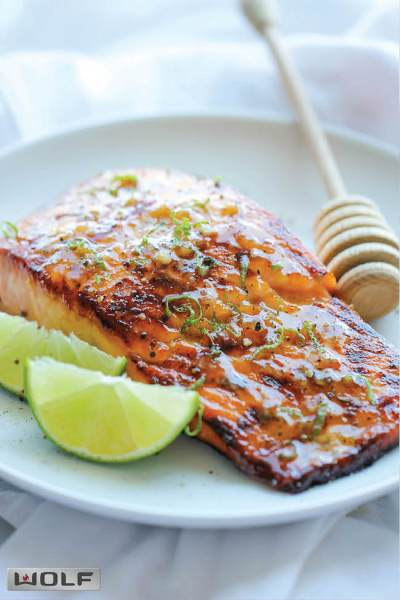 Honey Glazed Salmon Recipe from Damn Delicious