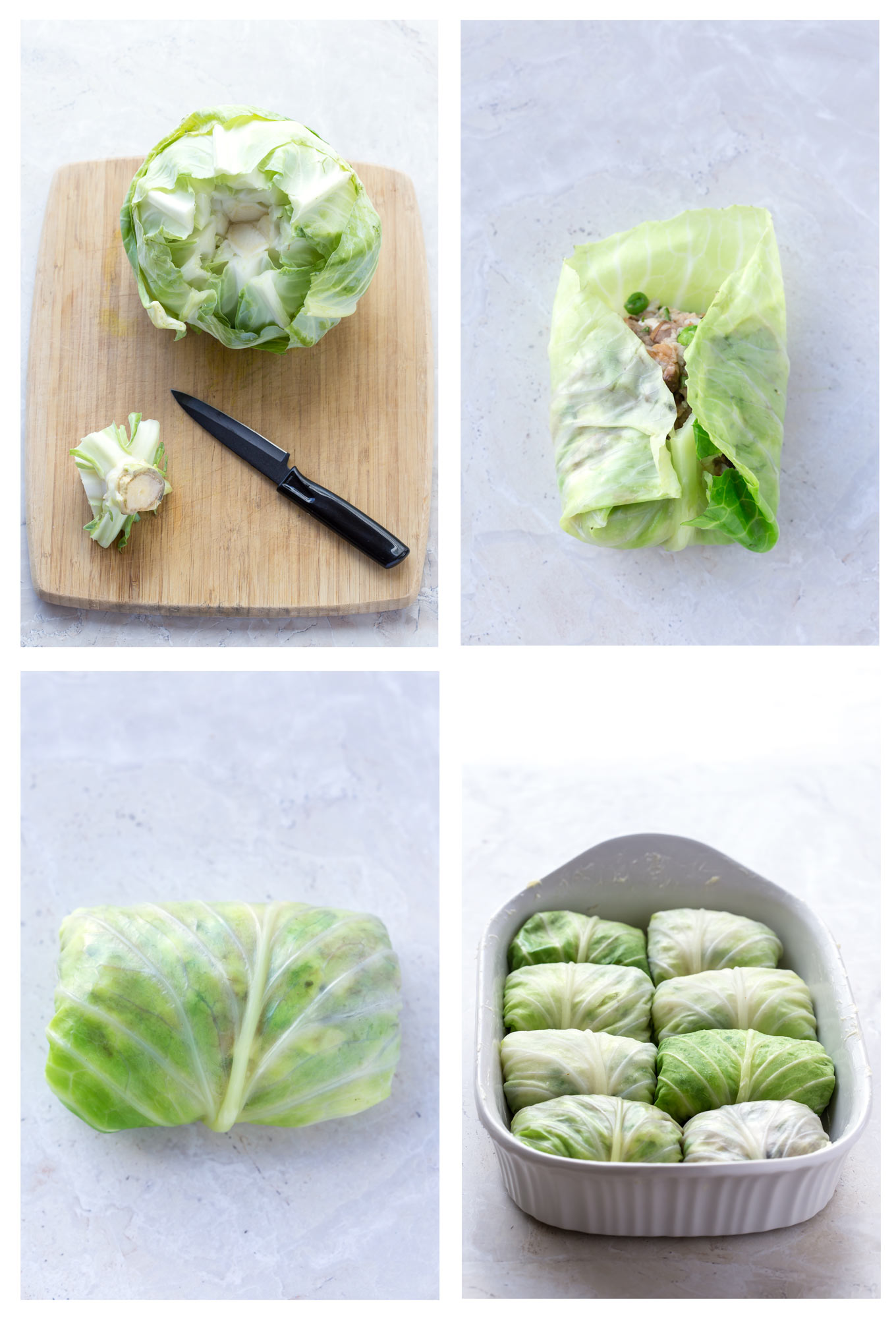 Leftover Turkey Stuffed Cabbage Rolls Recipe Process in Pictures