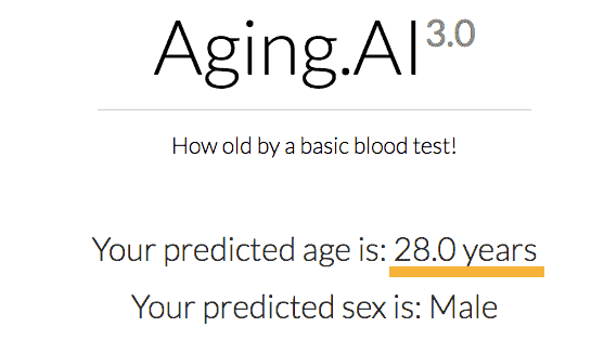 age predicted by math and science