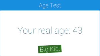 an age test based on lifestyle questions