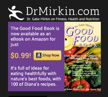 dr. mirkin and his wife, Diana, have a cookbook