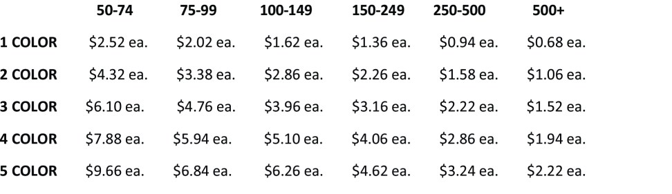 Pricing for Web Site - Spot Colors