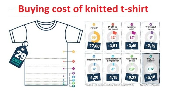 Buying Cost of Knitted T-Shirt