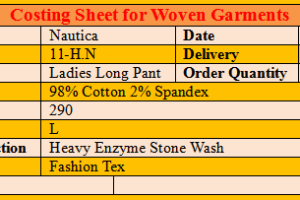 costing sheet