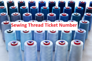 Ticket Numbering in Sewing Thread