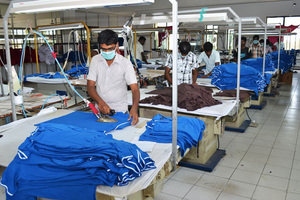 Pressing or Ironing Section in Garments Industry