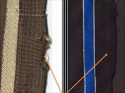 Defective selvage in fabric
