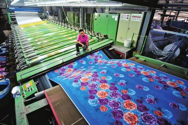 Fabric printing method