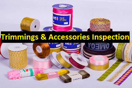 Trimmings and accessories inspection in apparel industry