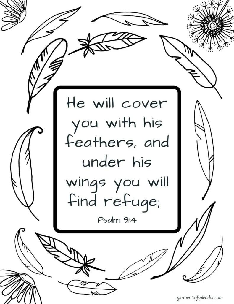 Growing Through Prayer For Kids Bible Verse Coloring