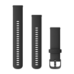 Quick Release Bands (22 mm)Black with Slate Hardware