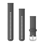 Quick Release Bands (22 mm) Shadow Gray with Silver Hardware