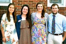 From left to right: Erin (Center Director), Shealagh (Finance Coordinator), Rabekah (Operations Coordinator), Ian (Volunteer Coordinator)