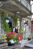 Carina, owner and spirit of the old shop in Krokom.