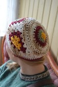 Close up of Julie's hat.