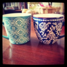 New tea cups from Indiska.