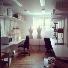 Studio: the back room.