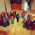 Studio: Yarn selection for first assignment.