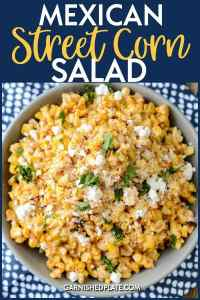 A delicious way to use up that end of summer corn, this Mexican Street Corn salad is perfect on it's own or amazing as a topping on your favorite tacos. #mexicanstreetcornsalad #cornsalad #corn #tacotuesday #mexican