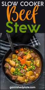FOR A SIMPLE, EASY TO PREPARE DINNER THAT IS HEARTY AND DELICIOUS YOU CAN'T BEAT SLOW COOKER BEEF STEW!