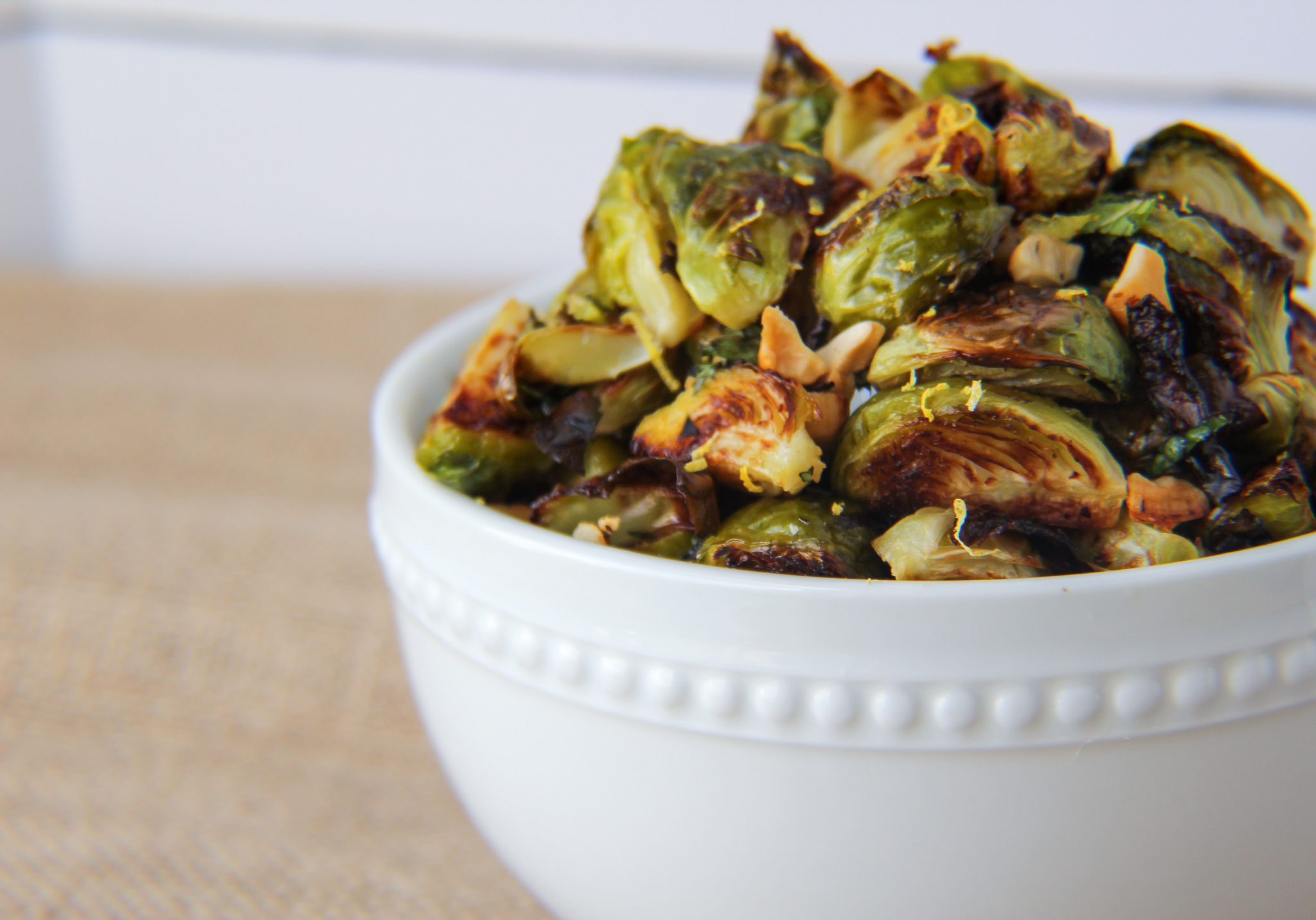 Perfect Brussels Sprouts with Lemon Garlic Sauce