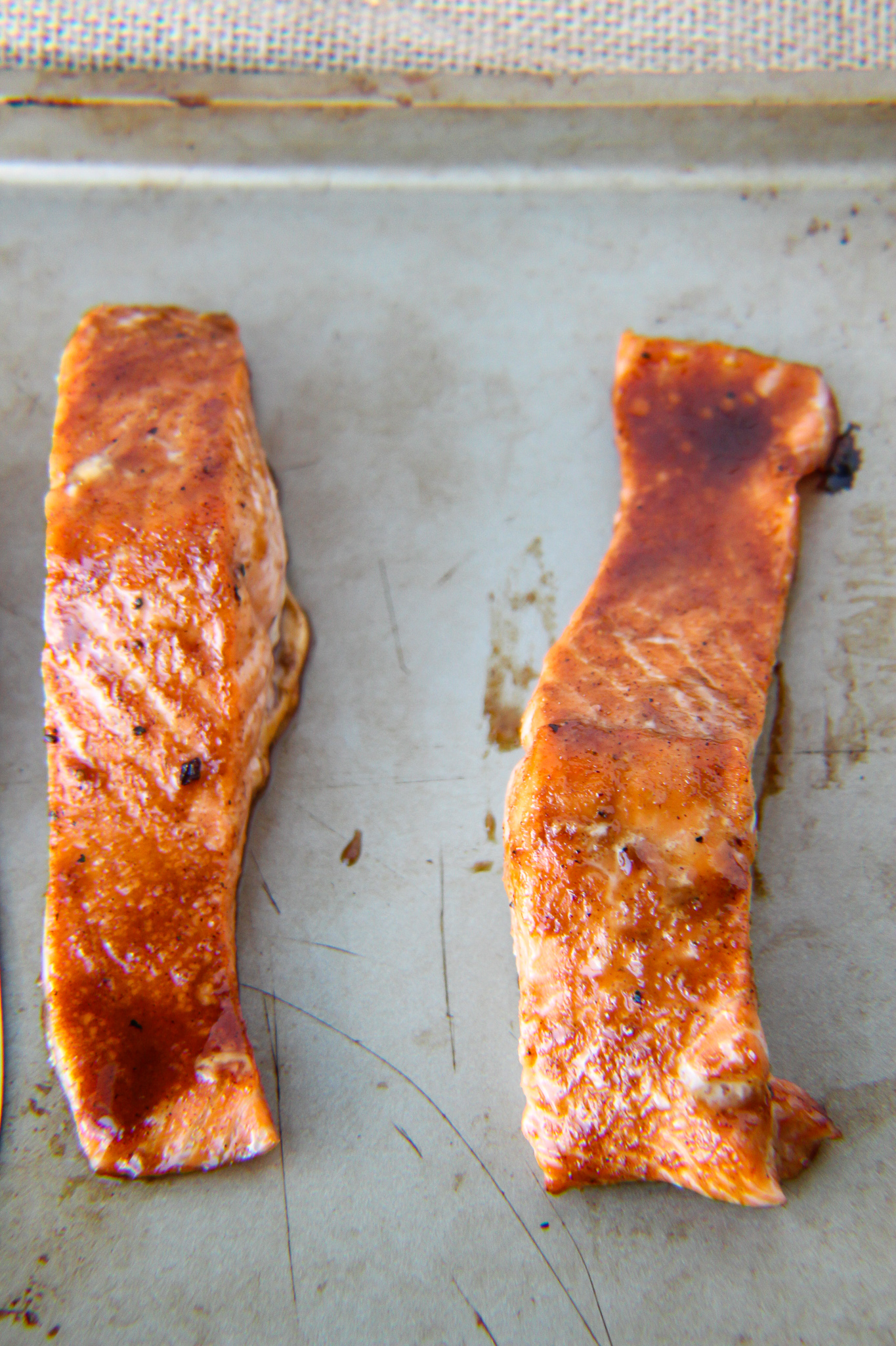 Salmon with Apple-Bourbon Glaze