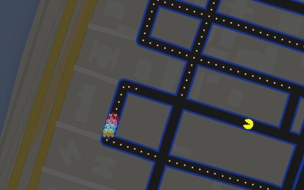 Google Maps Pac Man