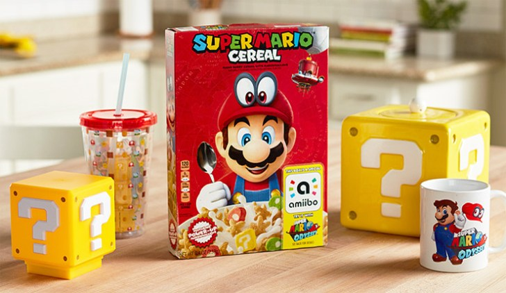 Cereal temático de Super Mario é lançado nos Estados Unidos