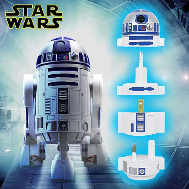 R2-D2: adaptador de energia mundial