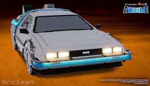 De Volta Para o Futuro: Incrível réplica de Delorean feita com 65.143 peças de LEGO