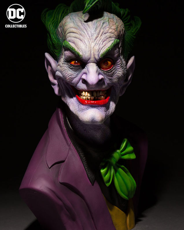 Rick Backer: Mestre do Terror projeta busto perturbador do Coringa