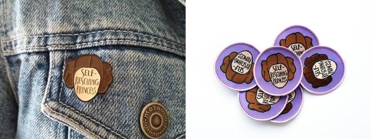 Bordados e broches trazem representações femininas da cultura nerd