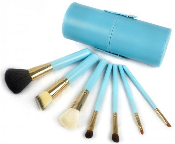 kit de pincéis azul