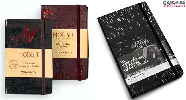 moleskines the hobbit star wars