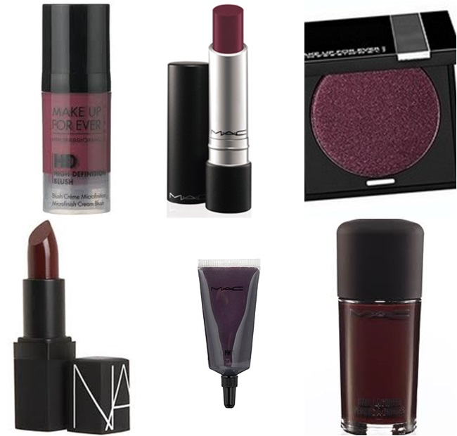 burgundy maquiagem
