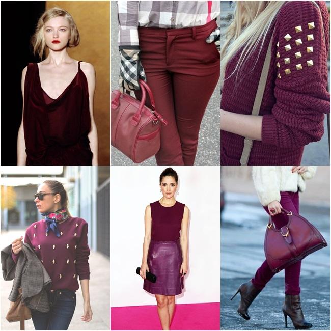 burgundy moda