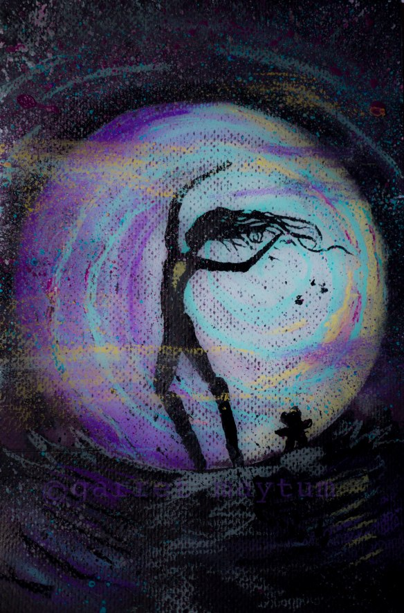 Speedball ink, Nue pastel, Acrylic ink on Colored art paper