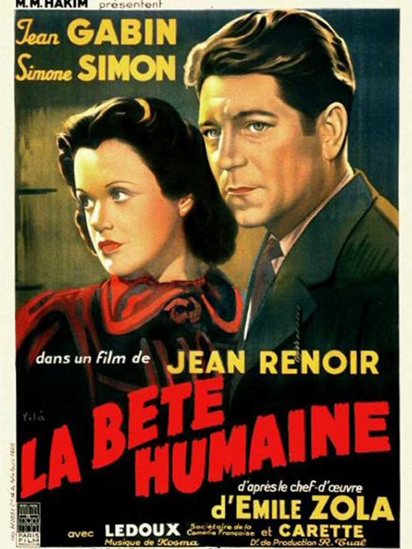 La bete humaine poster