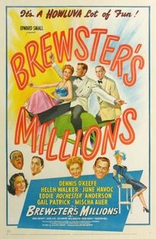 Miliony Brewstera poster