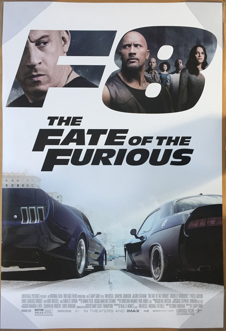 szybcy i wsciekli The Fate of the Furious poster